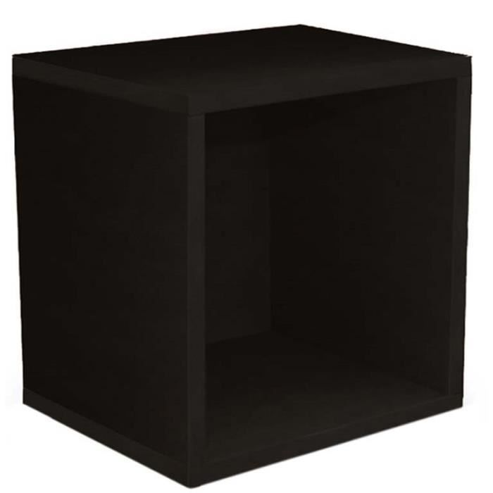 etag re cube standregal m73 coloris noir dim l 33 x h 34. Black Bedroom Furniture Sets. Home Design Ideas