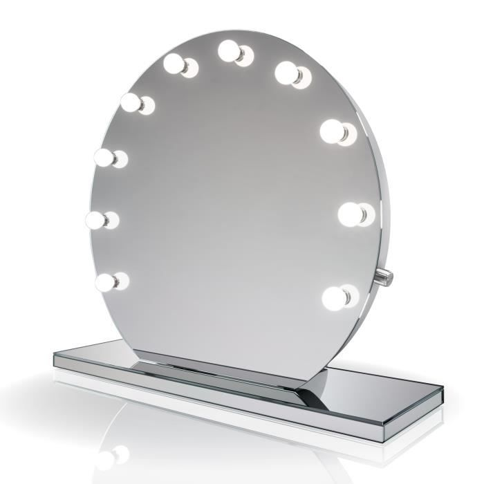 Miroir de maquillage hollywood finition miroir lampes del for Miroir hollywood