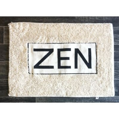 tapis salle de bain zen couleur noir achat vente tapis bain cdiscount. Black Bedroom Furniture Sets. Home Design Ideas