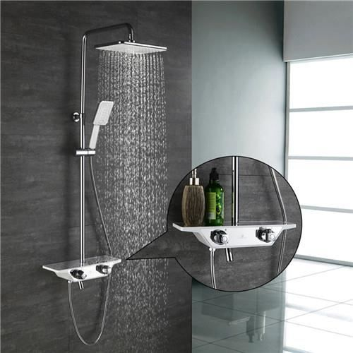 Colonne De Douche Thermostatique Design Tablette Kit De Douche Avec