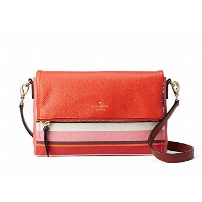 Kate Spade New York Cobble Hill Tissu Marsala Sac bandoulière, à rayures multicolores Q95Y2