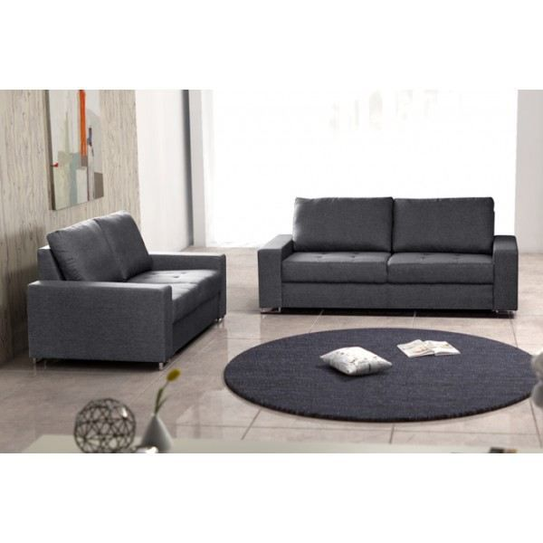 Ensemble de 2 canap s moderne coffee gris achat vente canap sofa divan cdiscount for Photo canape moderne