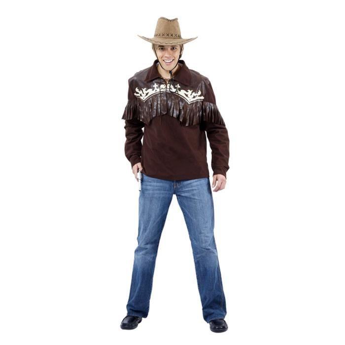 Duke classique pour homme avec chemisen jean Style Western Noir