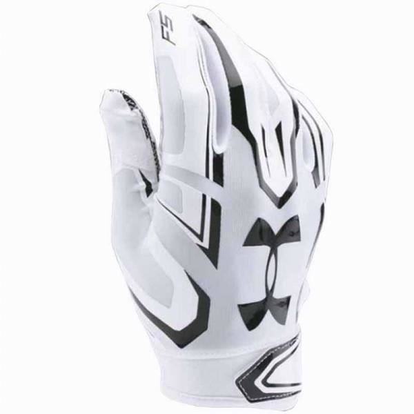 S Under Armour Gant de football am/éricain Under Armour F5 pour receveur Blanc Noir taille