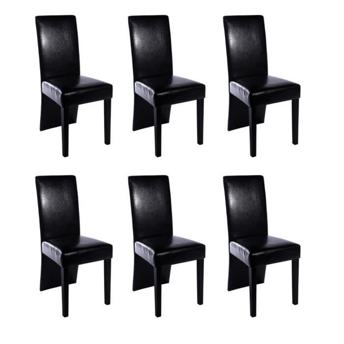 chaise design bois noir lot de 6 simili cuir bois achat. Black Bedroom Furniture Sets. Home Design Ideas