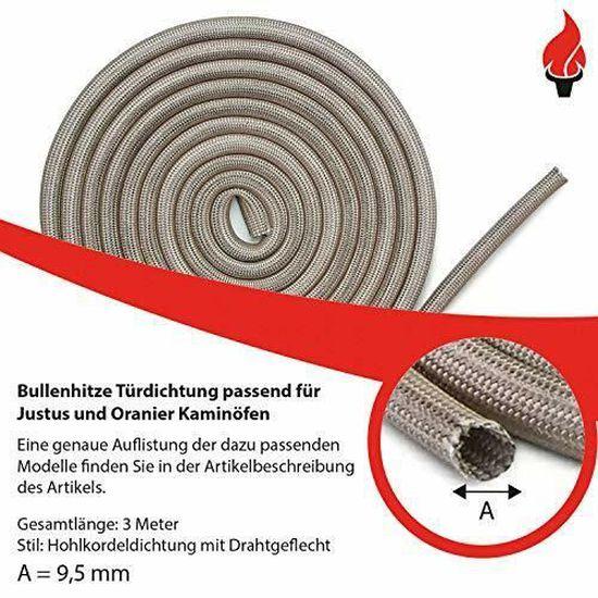 Prix De Base 2,75 € par 1 m Cheminée d/'étanchéité 12 mm de diamètre 2 m de long Anthracite