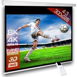 ECRAN DE PROJECTION 4:3 Écran videoprojecteur motorisé 300 x 225 cm