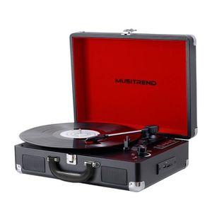 PLATINE VINYLE MUSITREND Platine Vinyle Tourne-Disques Valise Por