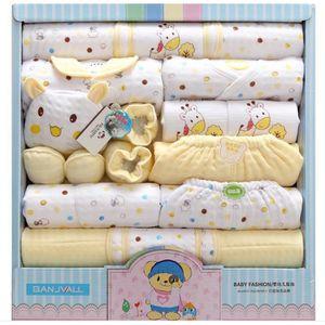 COFFRET CADEAU SOUVENIR  18pcs Set de Naissance Bébé Vêtements en Coton,Co