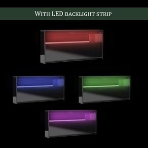 MEUBLE TV MDF Meuble TV avec LED multicolore Design contempo