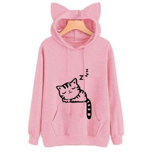 Pull femme motif chat