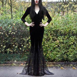 ROBE ROBE Gothique Slim Sexy Mode Femme Style V-cou à m