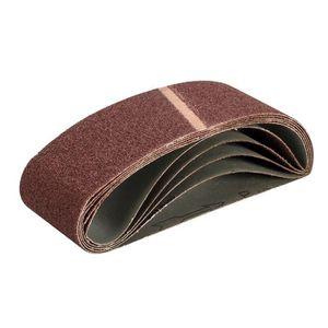 Tissu courroies abrasives 75 x 533 mm Grain 60 Lot de 5
