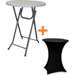 TABLE DE CUISINE  Table bar pliante mange debout + housse noir