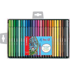 FEUTRES STABILO Coffret de 25 feutres de coloriage  Pen 68