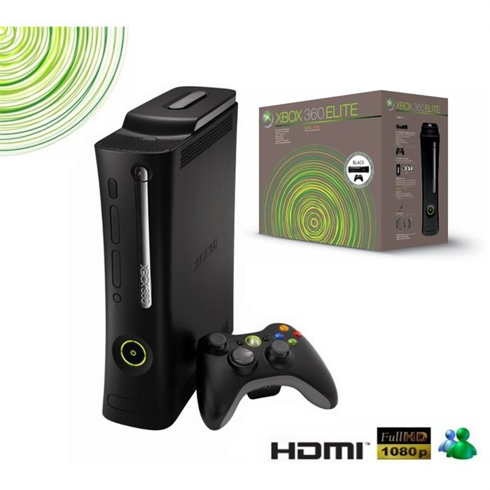 console xbox 360 elite achat vente console xbox 360. Black Bedroom Furniture Sets. Home Design Ideas