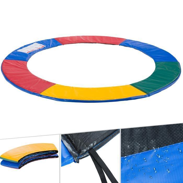 AREBOS Coussin de Protection des Ressorts Pour Trampoline 244 cm Multicolore