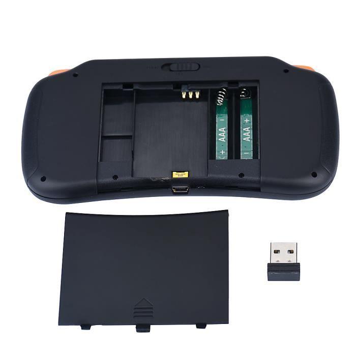 Dual Power S1 portable mini Bluetooth clavier sans fil pour Touchpad Noir