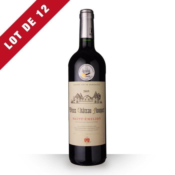 12x Vieux Château Flouquet 2015 AOC Saint-Emilion - 12x75cl - Vin Rouge