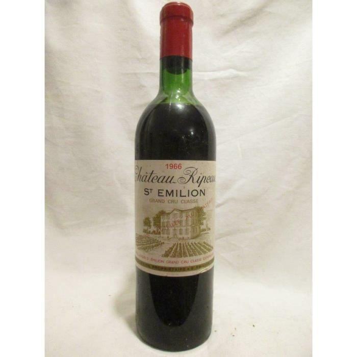 saint-émilion château ripeau grand cru classé rouge 1966 - bordeaux