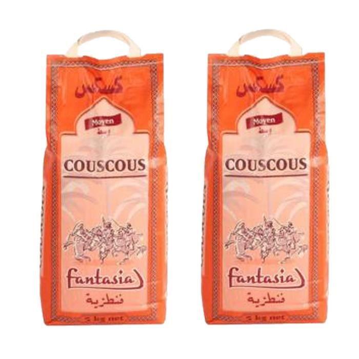Lot 2x Couscous moyen - Fantasia - sac 5kg