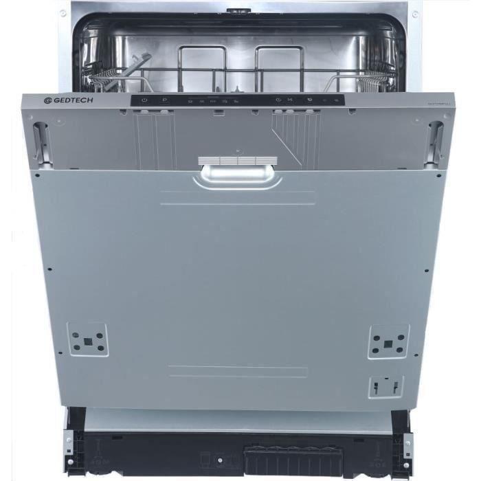 GEDTECH™ GLV1249FULL - Lave-vaisselle full encastrable - 12 couverts - 49 dB - A++ - Départ différé