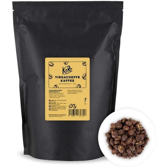 café en grain yirgacheffe 1 kg - café de spécialité de haute qualité dans un emballage économique, composé de grains entier 40