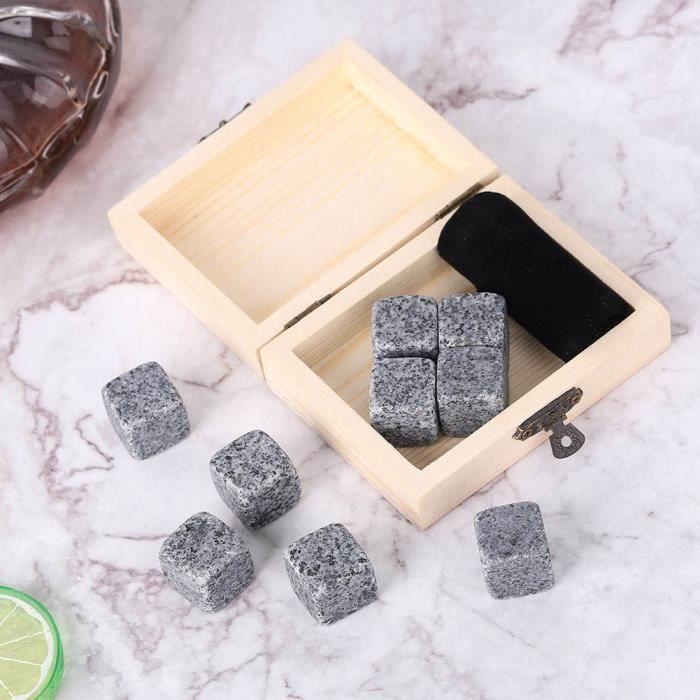 Ashata pierres de refroidissement de whisky 9 Pcs Whisky Vin Chilling Stones Set Boisson À La Maison Chiller Pierres Roches Boîte