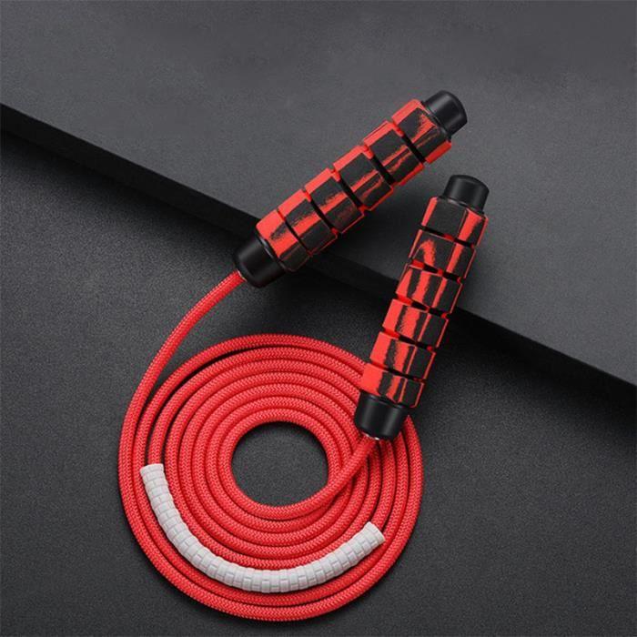 Corde à Sauter Lestée Câble réglable avec Roulements à Billes Corde d'épaisseur de 9mm pour Crossfit, Exercice, entraînement