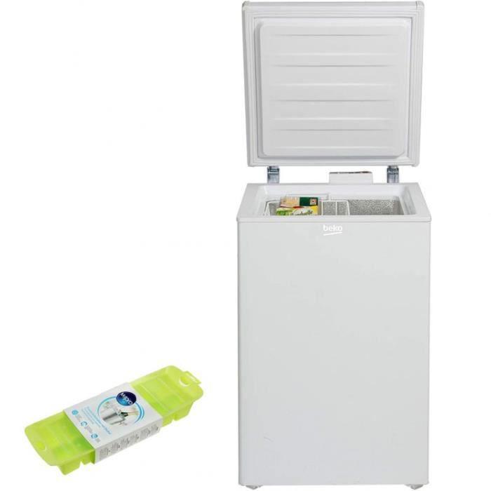 BEKO Congélateur coffre blanc 104L autonomie 30h avec 1 panier 60 Blanc