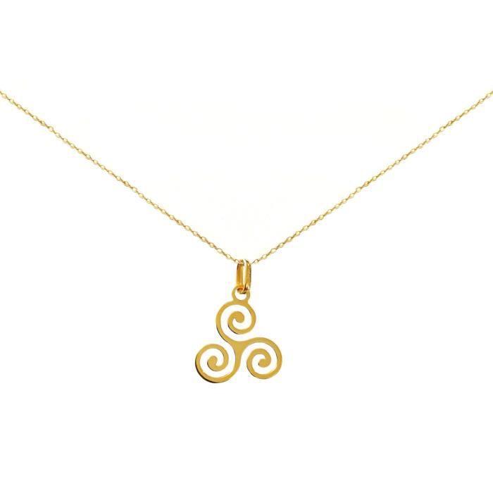 Collier pendentif triskel or 750/1000° (18 carats)