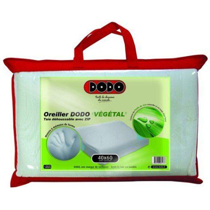Dodo Vegetal Oreiller Uni Ergonomique Blanc 40 …
