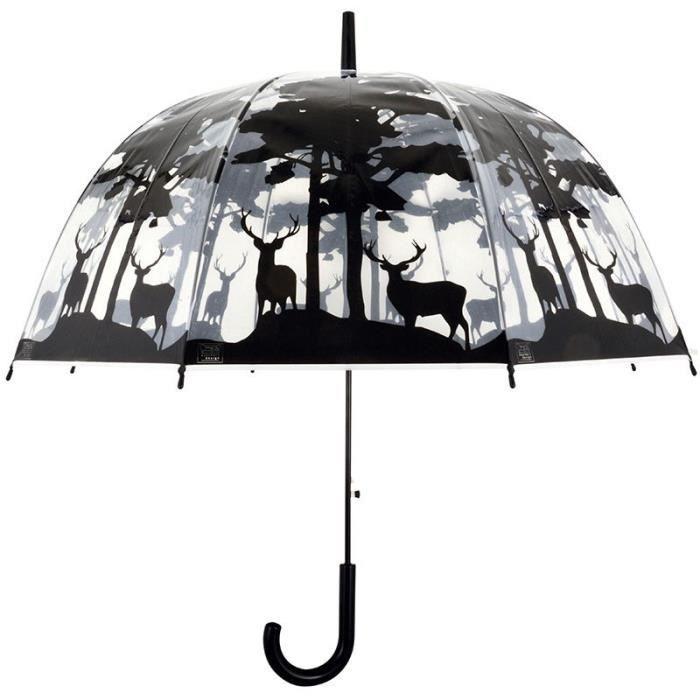 Parapluie transparent forêt Noir