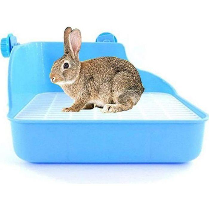 Bac Litière de Lapin Maison de Toilettes pour Lapin Hamster Rat Gerbille Souris Cochon d'Inde