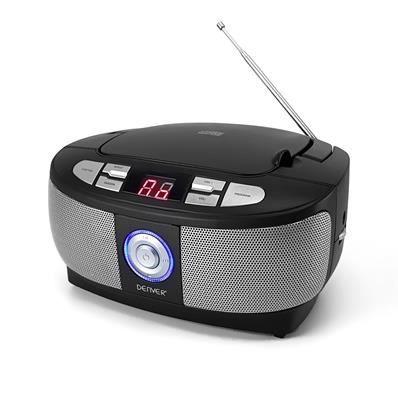 Chaine Hi-Fi NOIR BoomBox - CD-R - CD-RW - RADIO FM - Afficheur LCD avec rétroéclairage