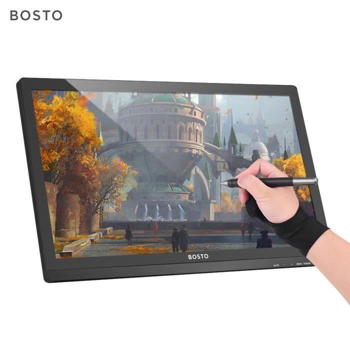Bosto 22U mini Tablette Graphique 21.9 pouces 1920 * 1080 Hd, niveau 8192 avec support, le stylo rechargeable