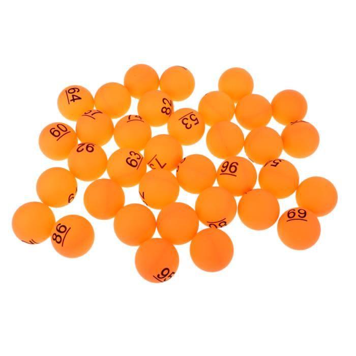 Set de 50pcs 40mm Balle de Tennis de Table Numéro 51 - 100 - Orange