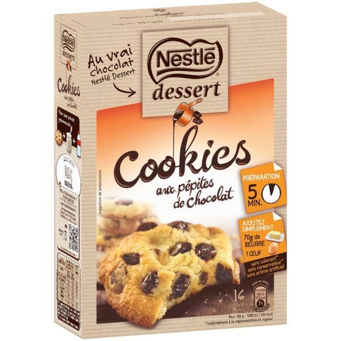 Préparation pour cookies chocolat 351 g NESTLE