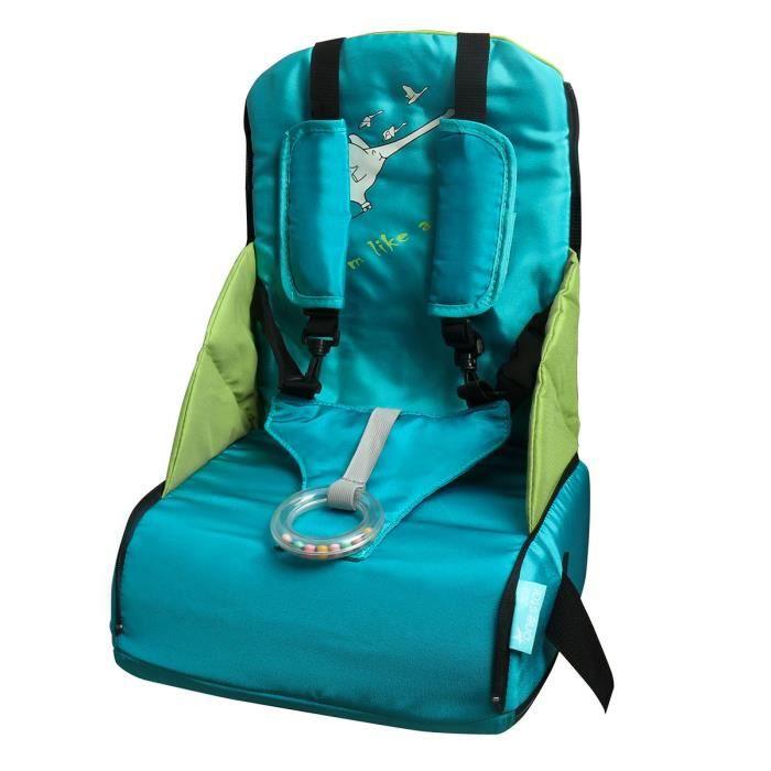 Siège Rehausseur Coussin De Chaise Haute Sécurité Pour Bébé Manger Facilement Bleu