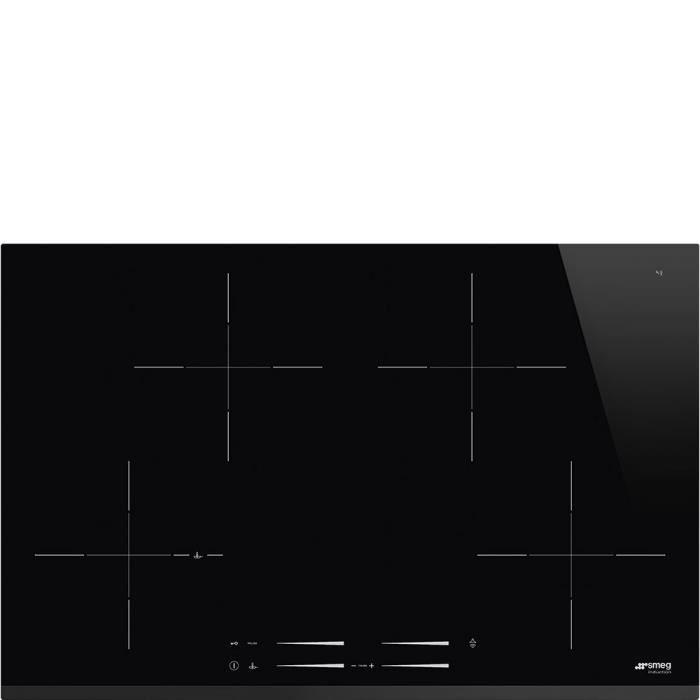 Smeg SI7844B, Intégré, Plaque avec zone à induction, Verre-céramique, Noir, 3200 W, 21 cm