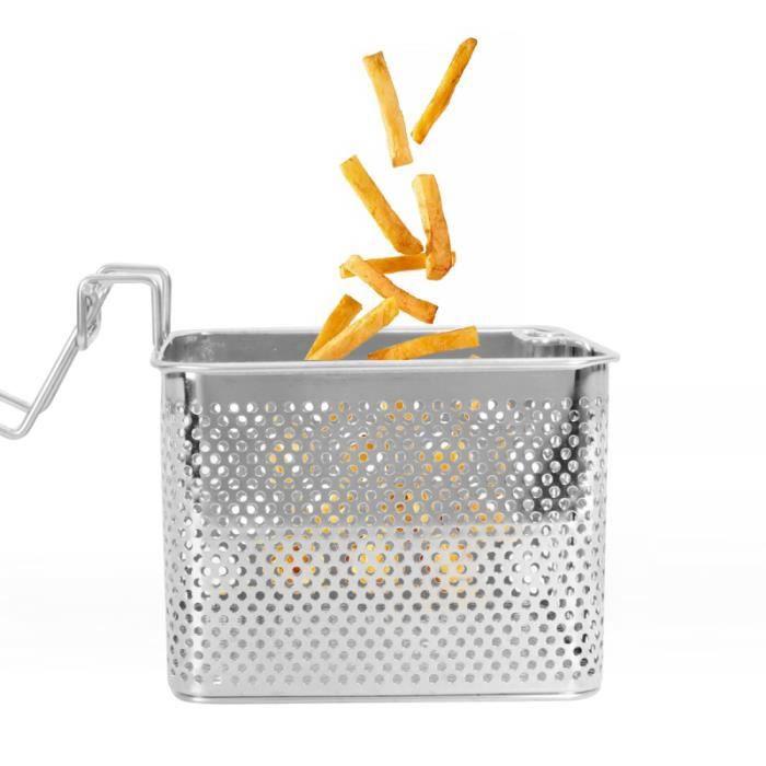 Panier de vidange en acier inoxydable frit carré Poulet Grille de friture carrée FAITOUT - MARMITE