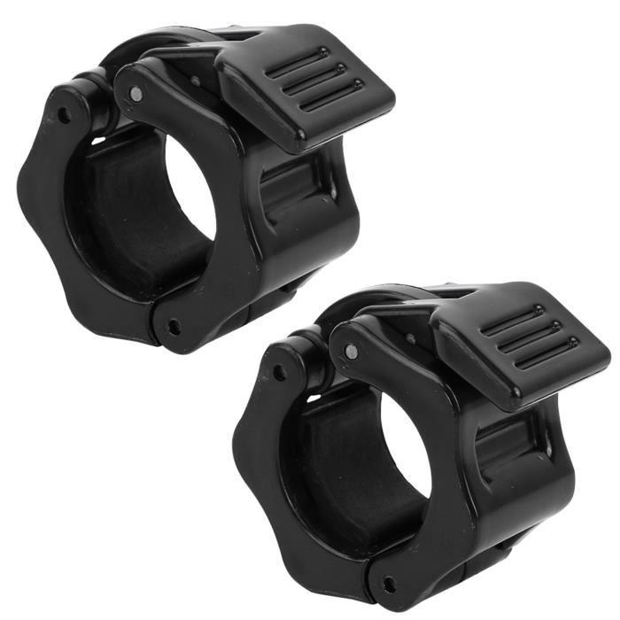 Pince de verrouillage d'haltère 1 paire 28mm en plastique haltère haltère serrure pince à ressort collier pour la HB021