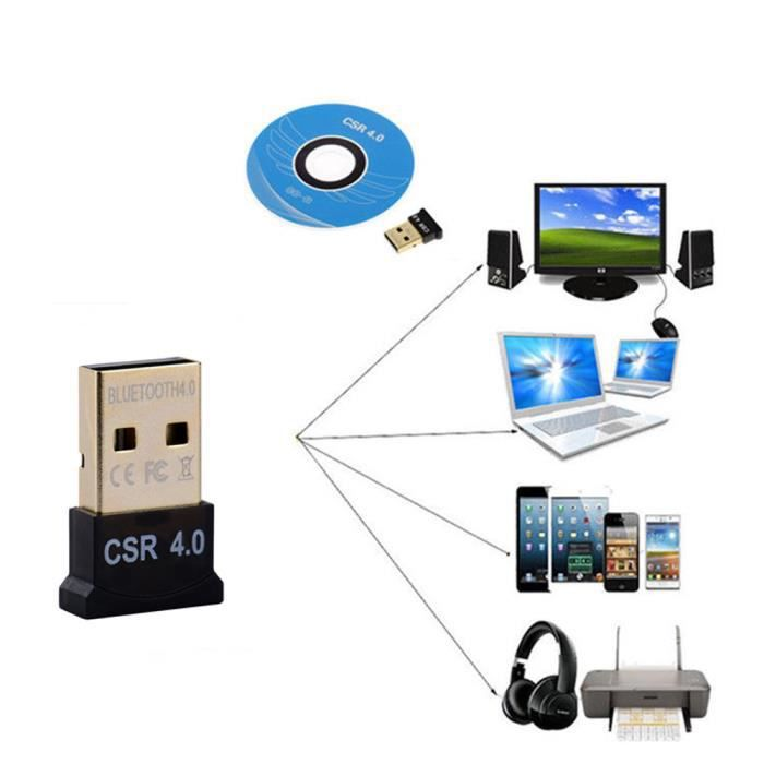 ADAPTATEUR BLUETOOTH Mini USB sans fil Bluetooth 4.0 Dongle adaptateur