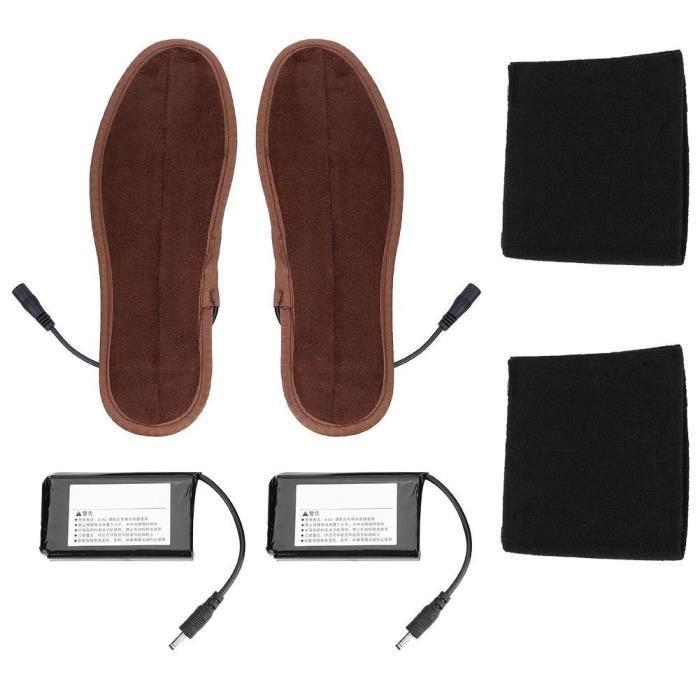 la randonn/ée Semelle chauffante la p/êche Chaussures chauffantes Rechargeables USB Semelles Chauffe-Bottes Thermique la Chasse Le Camping Batterie Incluse