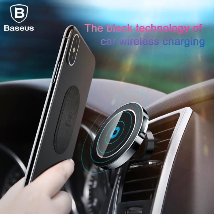 CHARGEUR TÉLÉPHONE Qi Chargeur rapide san fil de voiture Support de t