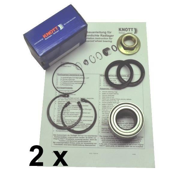 Jeu de roulement Knott imperm/éable 410250.001 roulement 64 Jeu de roulements de roue Accessoires 34x37mm