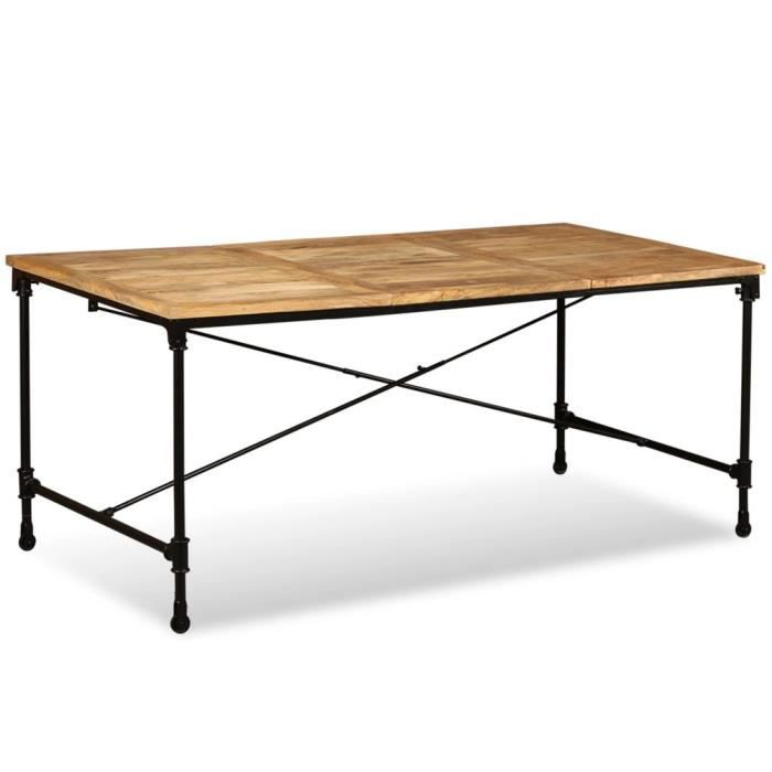 Table de Jardin Bois de Manguier Massif Table de Salle à ...