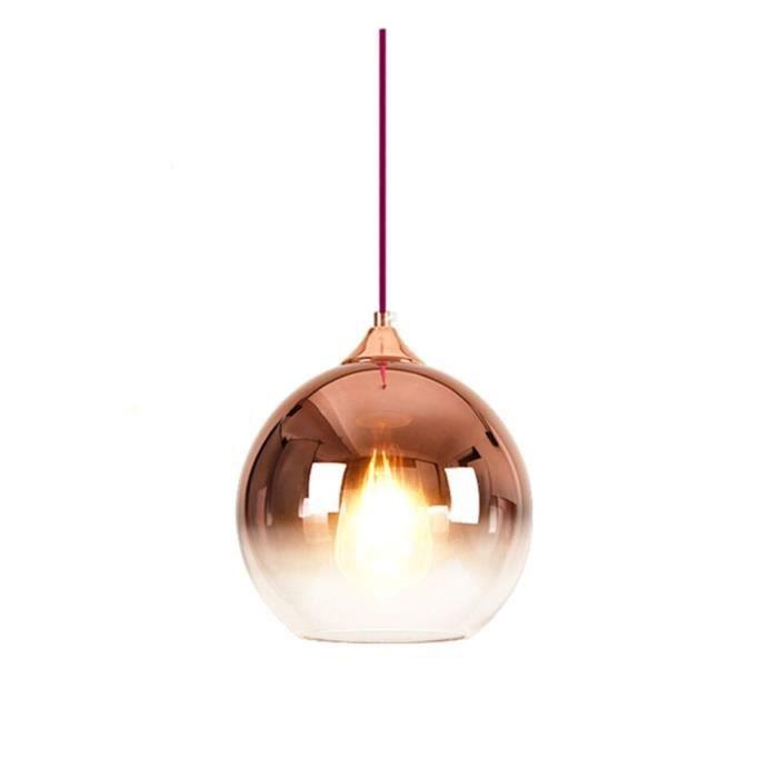 Lustre Salle A Manger Nordic Modern Suspension Boule Verre Créatif Restaurant Chambre à Coucher Chevet Luminaire Lamp éclairage 25cm