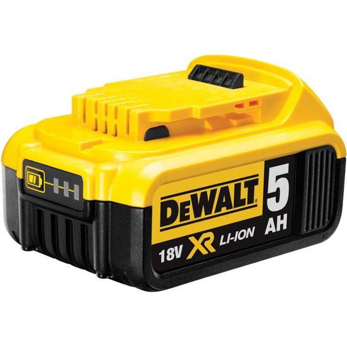 Topbatt 2X 18V 5.0Ah Lithium-ion pour Dewalt Batterie de Remplacement DCB184 DCB200 DCB182 DCB180 DCB181 DCB182 DCB201 avec Indicateur LED Outils /électroportatifs