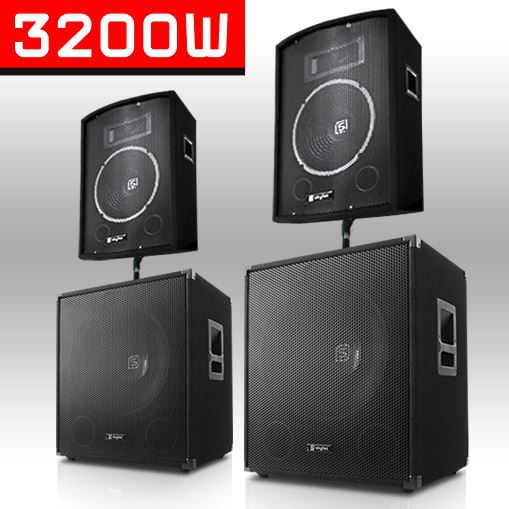 pack sono dj 2x enceinte 2x subwoofer 46cm 1000w pack sono prix pas cher cdiscount. Black Bedroom Furniture Sets. Home Design Ideas